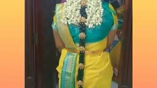 Traditional South Indian engagement bride's look