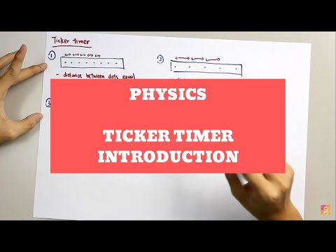 Physics - Ticker Timer Introduction