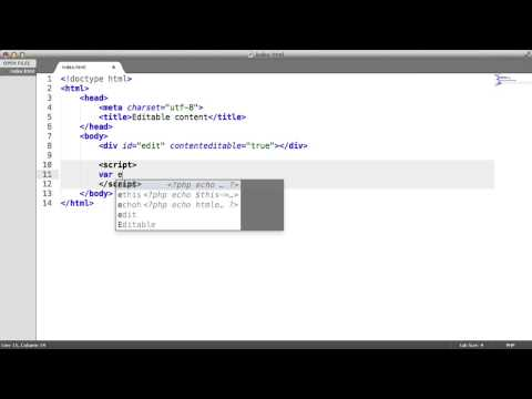 HTML5 ContentEditable