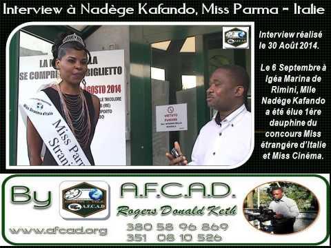 AFCAD: Interview à Nadège Kafando, Miss Parma 2014