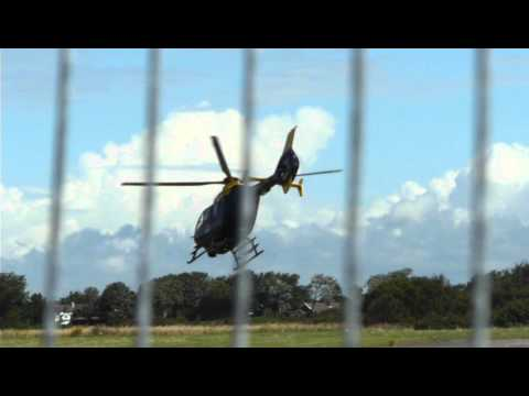 Merseyside Police Helicopter Takes-off from RAF Woodvale