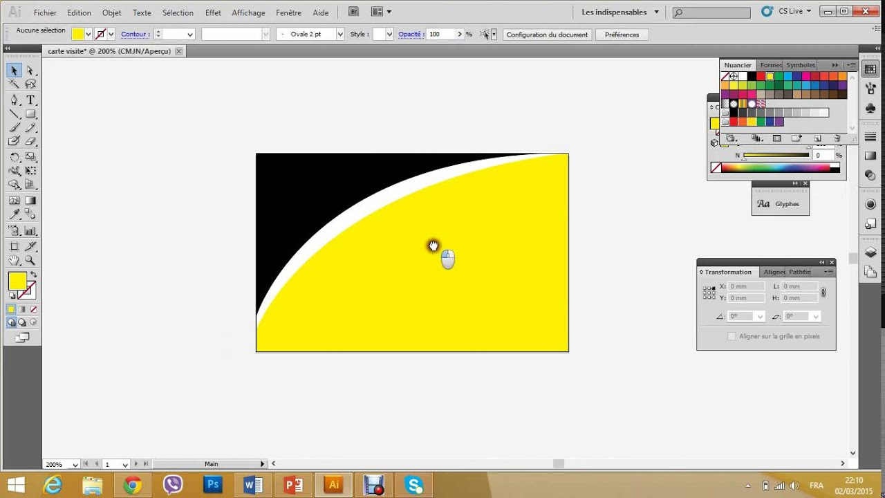 Comment Faire Une Simple Carte Visite Format 8554 Mm Sur Illustrator