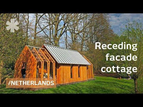 Mechanical lean cottage morphs sliding skin with use/seasons