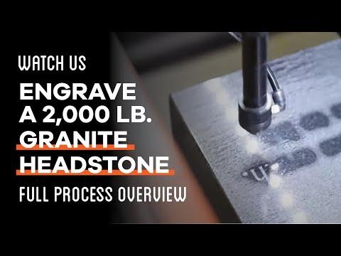 Laser Engraved Headstone - Full Process Overview - AP Lazer - SuperNova International
