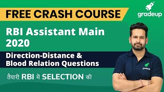 RBI Assistant 2020 Direction Distance & Blood Relation Strategy to Score 35+ in Reasoning