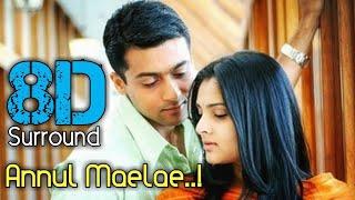 Annul Maelae 8D | Vaaranam Aayiram | Surya | Dhivya | Harris Jayaraj | 8D BeatZ