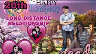 Long Distance Relationship |Happy 20th Monthsary Prince and Mary| Monthsary Greeting vlog |