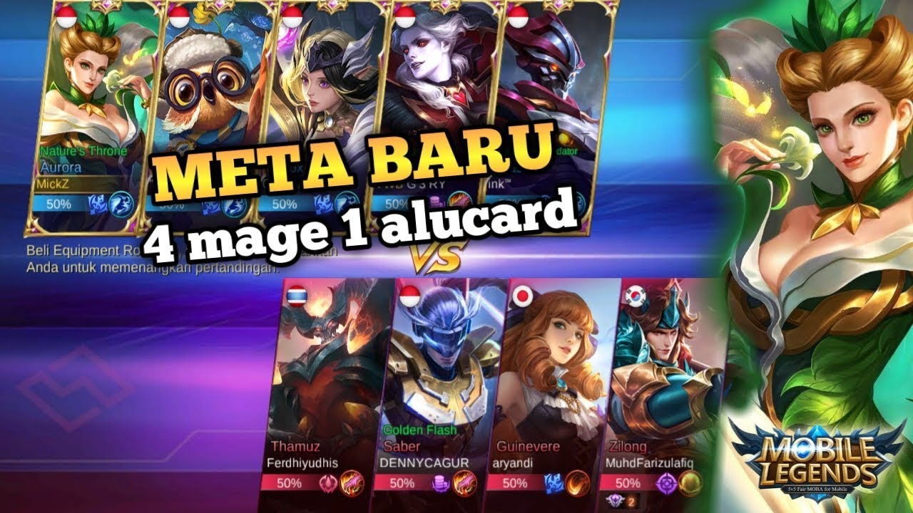 4 mage 1 alucard di rank mytic.? mobile legend bang