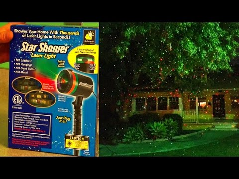 Star Shower Laser Lights Review Test Footage Christmas