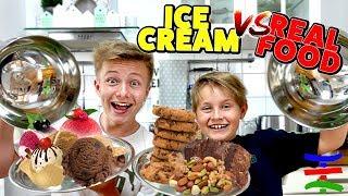 REAL FOOD vs. EISCREME Challenge 🍦 VERBLÜFFEND! 😁 TipTapTube Family 👨👩👦👦