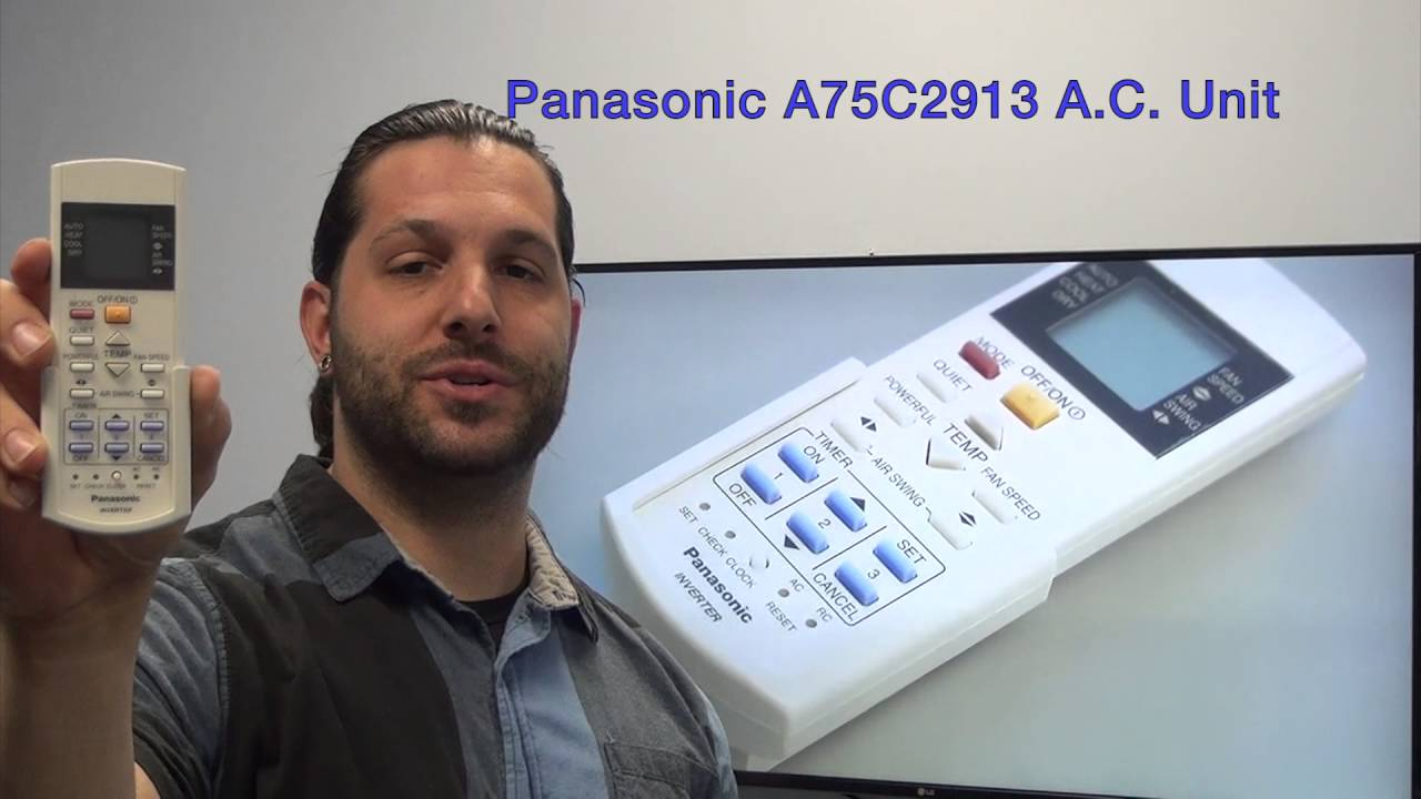 Panasonic A75C2913 Air Conditioner Unit Remote Control -  www ReplacementRemotes com