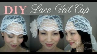 {CATHY} How to make a Wedding Veil Cap with Lace: DIY Tutorial