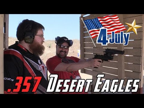 AJ Celebrates July 4th, 2018! [.357 Desert Eagles!]