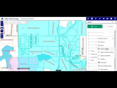 6 Select Tool - Otter Tail County, MN GIS Web App