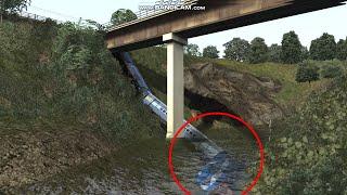 Major Train Accident  Train Falling from Bridge FULL HD | Konkan Railways | IRFCA | Train Simulator