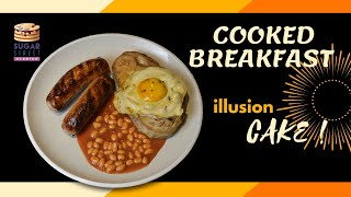 Hyper Realistic Cooked Breakfast Illusion CAKE!