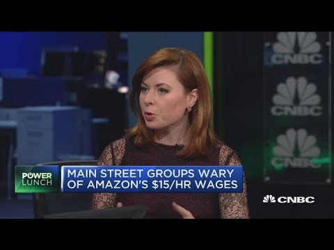 Main Street groups wary of Amazon's $15 per hour wages