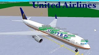 ROBLOX | United Airlines Boeing 767-300 Flight