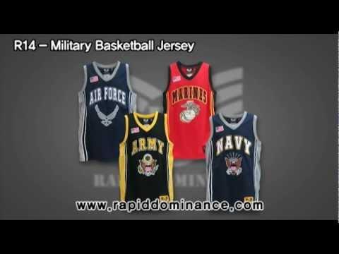 """Rapid Dominance"" R-14, Military Basketball Jersey"
