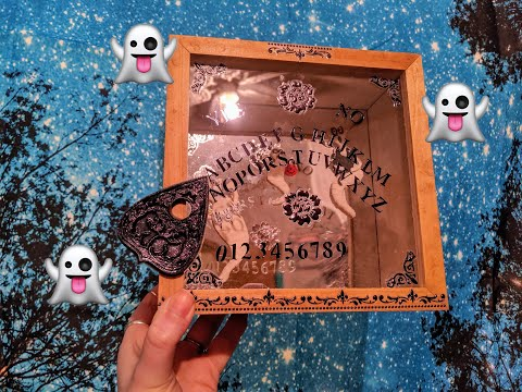 DIY Ouija Board Shadowbox || with Ghost 👻