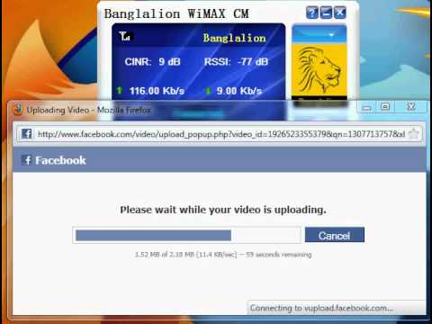 Uploading Speed @banglalion Wimax 512kbps
