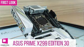 ASUS Prime X299 Mainboard - limitierte Edition zum 30. Jubiläum #Computex2019