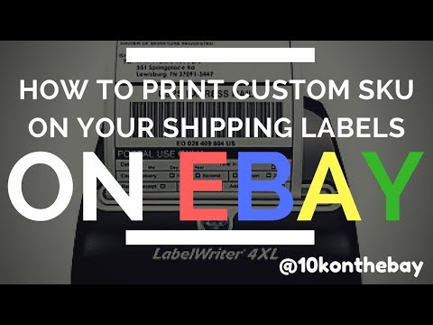 How to Print Custom SKU's on your eBay Shipping Label & The USPS Flat Rate Envelope Rules