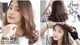 Cách Làm Tóc Xoăn Bồng Bềnh Cho Tóc Ngắn và Mỏng ♥ LONG BOB HAIR STYLE TUTORIAL | mattalehang