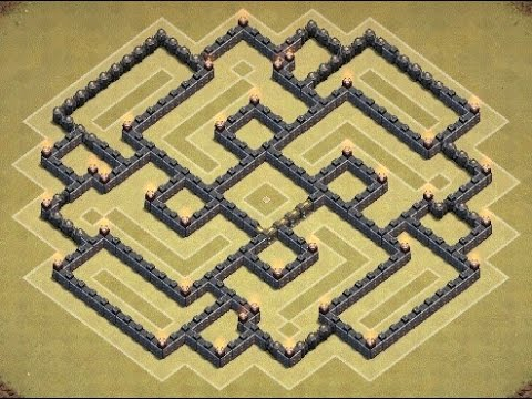 Clash Of Clans | Epic TH9 War Base! (Wicked)