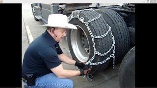 THROWING IRON How I Chain Up #AITDLS : Adventures in Trucking Series