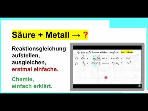 Säure und Metall, Reaktionsgleichungen aufstellen und ...