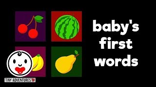 Baby's First Words   Fruits #2   Simple learning video for babies and toddlers