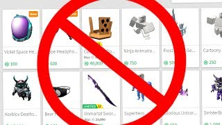 ROBLOX REMOVED THE CATALOG..