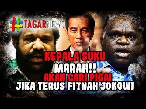 Saat Kepala Suku Papua M4r4h Karena Jokowi Difitn4h