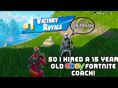 So I hired a 15 YEAR OLD FORTNITE COACH from EBAY and this happened... 😱