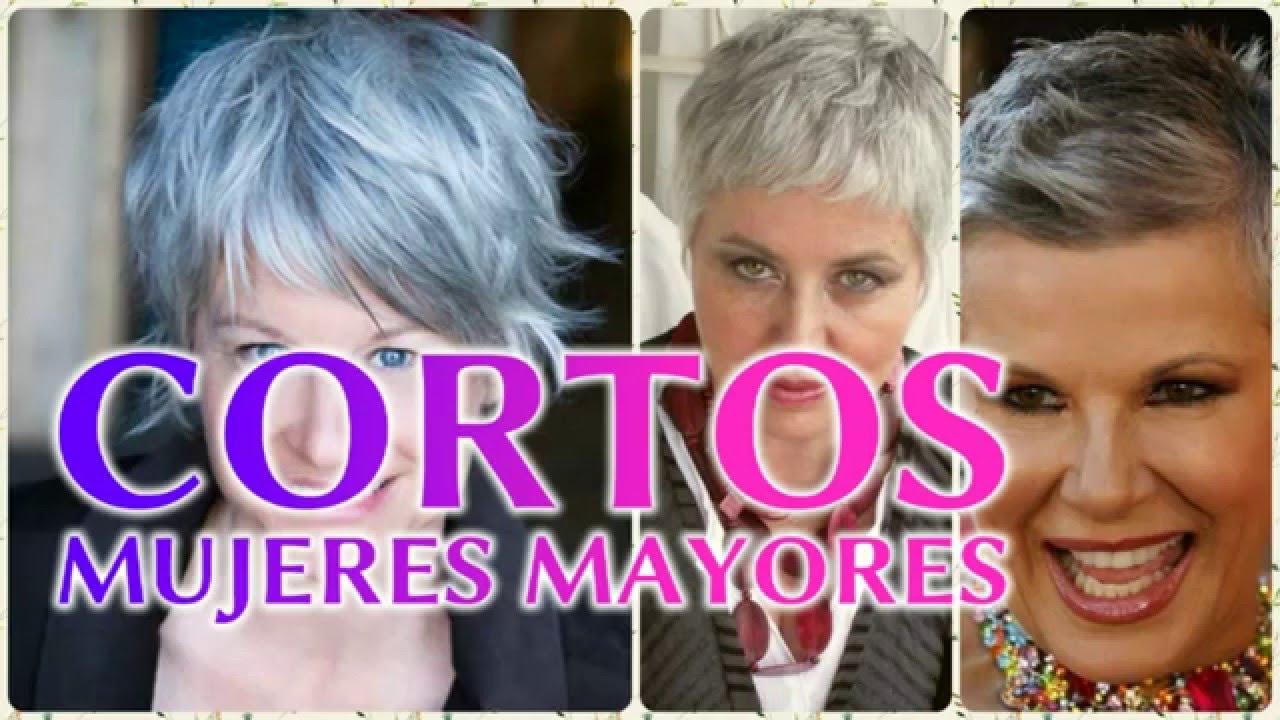 Cortes de cabello corto para mujeres mayores 2017 - YouTube