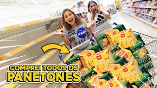 COMPREI TODOS OS PANETONES DO SUPERMERCADO!!!