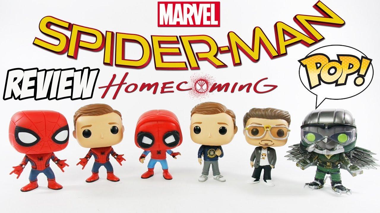 Homem-Aranha De Volta ao Lar Coleção Completa Funko POP [Review] boneco spider-man homecoming toys