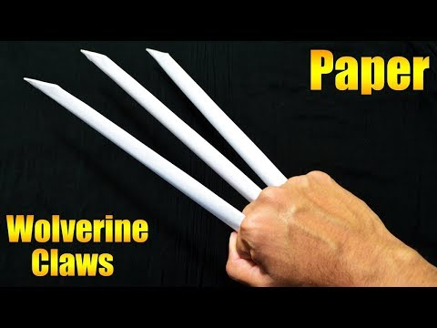 How To Make Paper Wolverine Claws - paper craft