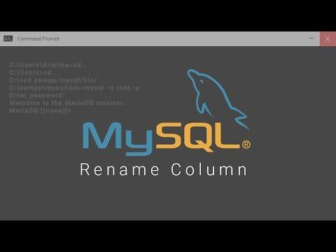 Rename Column In Mysql Database