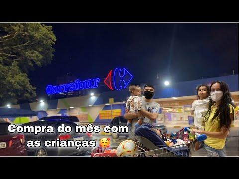 COMPRAS DO MÊS NO HIPERMERCADO CARREFOUR- FOMOS COM AS 3 CRIANÇAS