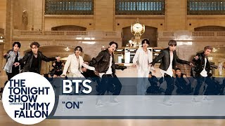 BTS PerformsONat Grand Central Terminal for The Tonight Show