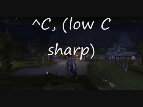 LotRO ABC Notation Drum Sound Check Lowest C Sharp ^C,