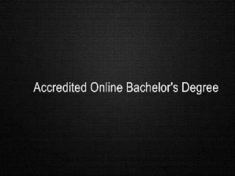 Accredited Online Bachelor's Degree