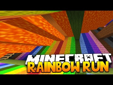 Minecraft RAINBOW SUPER LAVA RUN | with THE PACK!