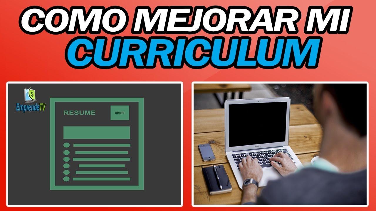 📂 COMO MEJORAR MI CURRICULUM - YouTube