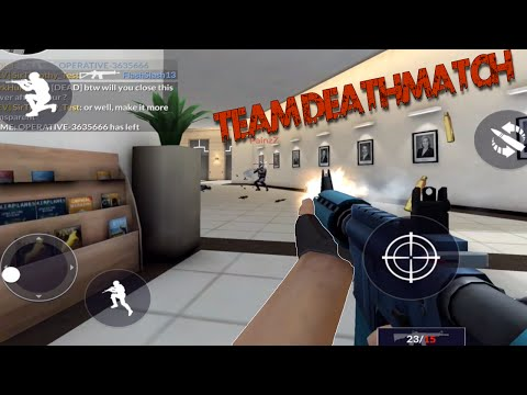 TEAM DEATHMATCH on BUREAU Map - Critical Ops Update! - Missions, UI, Team DeathMatch, Credits