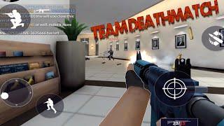 TEAM DEATHMATCH on BUREAU Map - Critical Ops Update! - Missions, UI, Team DeathMatch, Credits