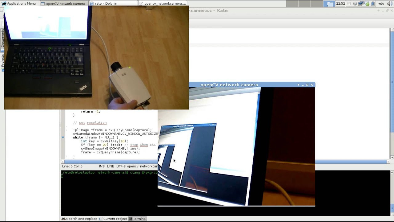 Stream network camera to OpenCV