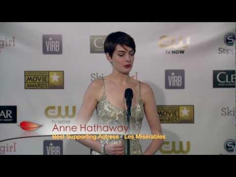 Anne Hathaway, Critics Choice Winner and Oscar Nominee